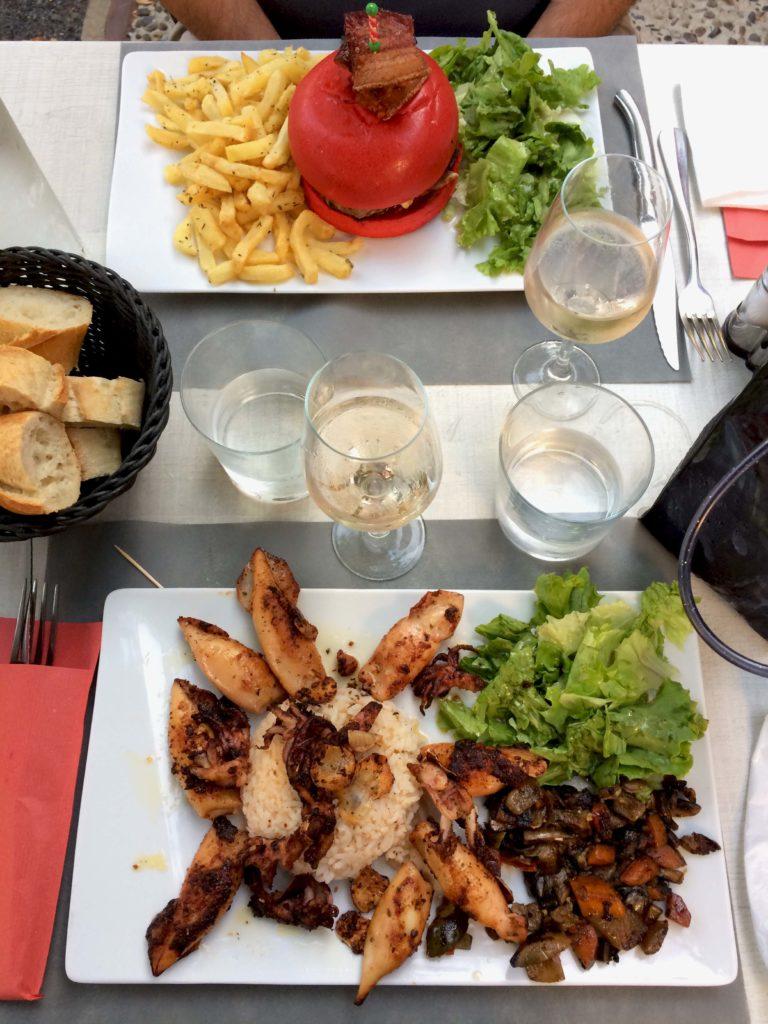 assiette de chipirons